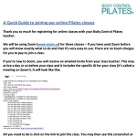 Guide to joining an online Pilates class